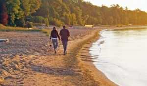 One of the best things about Jacksonport —  a stroll along the beach.