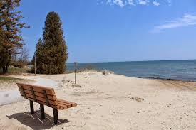 A prime viewing spot at Lakeside Park awaits visitors.